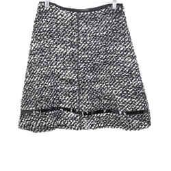 Prada Black White Wool Skirt Sz 2