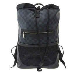 Auth Louis Vuitton Louis Vuitton Damier Cobalt Matchpoint Backpack N40009 Leathe