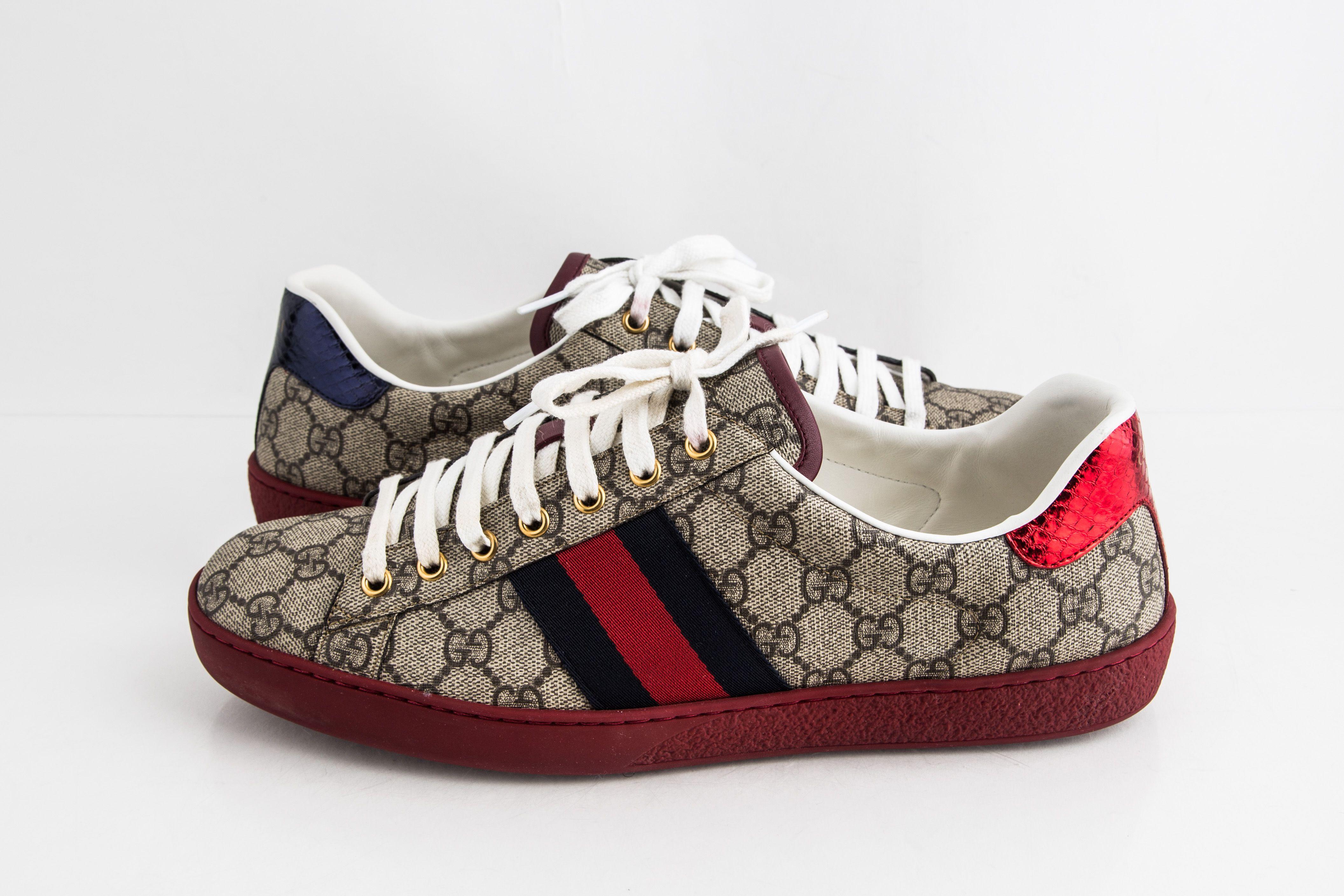 Gucci Ace Gg Supreme Sneaker Red/Blue
