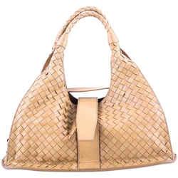 Bottega Veneta Top Flap Hobo Nappa Brown One Size Authenticity Guaranteed