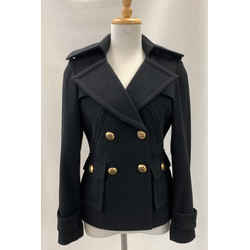 Authentic Smythe Black Wool Cashmere Peacoat