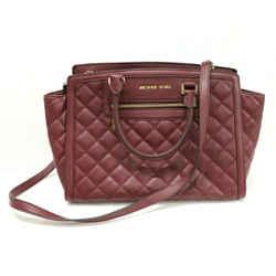 $398 Michael Kors Merlot Selma Tote Bag