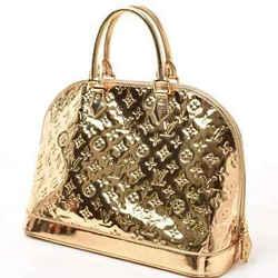 Auth Louis Vuitton Louis Vuitton Miloire Armored Gold Handbag Leather