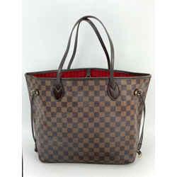 Louis Vuitton Neverfull MM Damier Ebene Red Interior Handbag Tote A520
