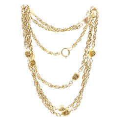 Chanel Gold Medallion Motifs CC Charms Long Necklace