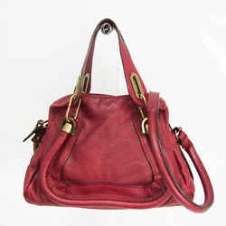Chloe Paraty Small Women's Leather Handbag,Shoulder Bag Wine BF529814