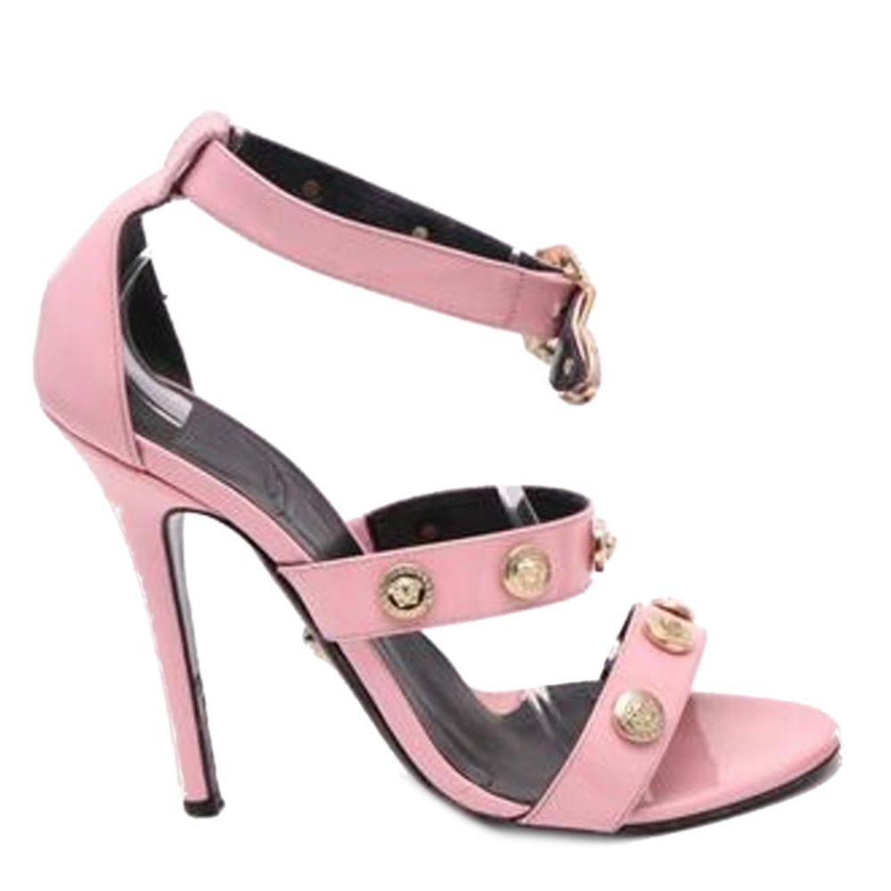 Versace Medusa Studded Heels - Sandals