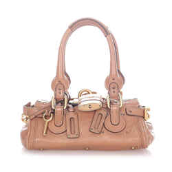 Vintage Authentic Chloe Brown Light Brown Calf Leather Paddington Handbag France
