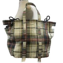 Zadig & Voltaire Coarted Canvas Extra Large Plaid Tote