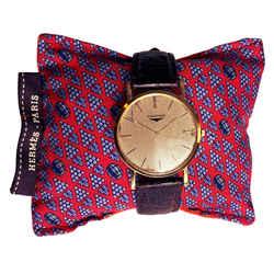 HERMES Vintage Grapes & Wine Barrel Cravatte Cedar Watch Pillow