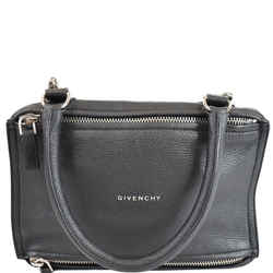 Givenchy Pandora Mini Grained Leather Shoulder Bag Black