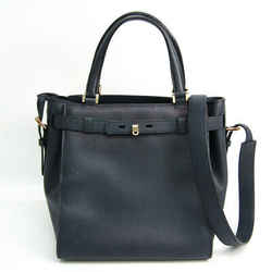 Valextra B Cube V5C67 Women's Leather Handbag,Shoulder Bag Navy BF518434