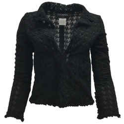 Chanel Black Embroidered Lace Jacket