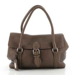 Selleria Linda Satchel Pebbled Leather Medium