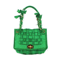 Lanvin | Green Satin Happy Bag