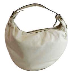 GUCCI  Duchessa Leather Hobo Bag Ivory 181492