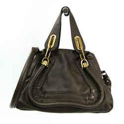 Chloe Paraty Small Women's Leather Handbag,Shoulder Bag Grayish BF522148