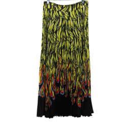 Prada Banana and Flames Print Skirt sz 2