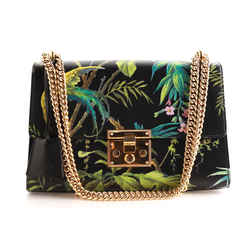 Gucci Tropical Print Padlock Shoulder Bag
