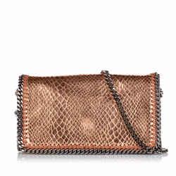 Vintage Authentic Stella McCartney Gold  Fabric Falabella Crossbody Bag England