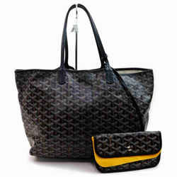 Goyar Chevron St Louis Tote with Pouch Black 859089