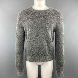 Tse Size S Grey Textured Mohair Blend Crew-neck Sweater