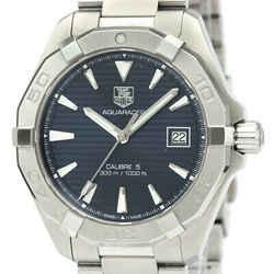 Polished TAG HEUER Aquaracer Calibre 5 Steel Automatic Watch WAY2112 BF534198