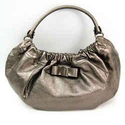 Salvatore Ferragamo Vara AB-21 C786 Women's Leather Shoulder Bag Metall BF517099