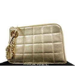 Chanel Chocolate Bar Handcuff Pochette Clutch Wristlet 233769