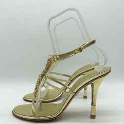 Giuseppe Zanotti Gold Giuseppe Zanotti T Strap Size 10 10