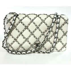 Chanel Limited Edition White Quilted Flap Bag Ruthenium Chain 2014