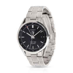 Tag Heuer Carrera Twin-time Wv2115.ba0787 Men's Watch In  Stainless Steel