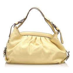 Yellow Fendi Borsa Doctor Leather Shoulder Bag