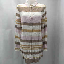 Rachel Zoe Brown Striped Dress Large
