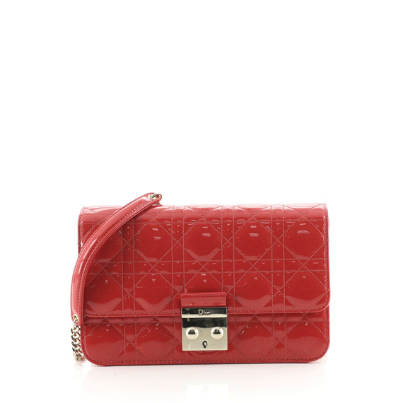 Miss Dior Promenade Pouch Cannage Quilt Patent Large