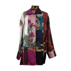 Salvatore Ferragamo Multicolor Silk Printed Pajama Shirt Size 44 IT
