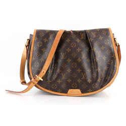 Louis Vuitton Brown Monogram Coated Canvas Menilmontant Mm Bag