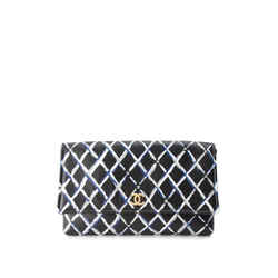 Pre-Owned Chanel Painted Quilt Clutch