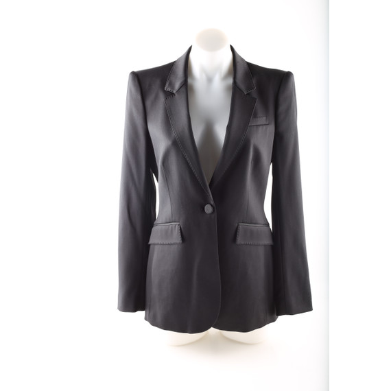 Burberry London Black Fitted Tuxedo Jacket Blazer