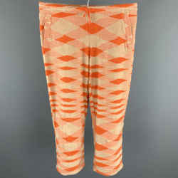 MISSONI SPORT Size 4 Orange Terry Cotton / Nylon Cropped Sweatpants