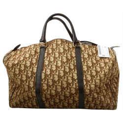 Dior     Large Monogram Trotter Brown Boston Duffle Bag 2CDS128
