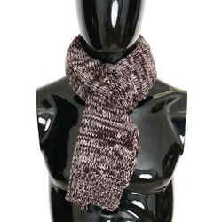 Dolce & Gabbana Bordeaux Wool Knitted Men's Scarf
