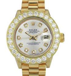 Rolex Lady Datejust 36mm Diamond Dial Diamond Bezel 1.50CTW Watch