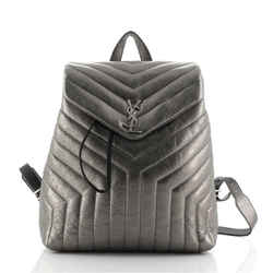 LouLou Backpack Matelasse Chevron Leather Medium