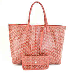 "GOYARD ""St Louis PM"": Red ""Goyardine"" & Leather Logo Shoulder/Tote Bag (mo)"