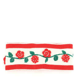 Floral Headband Knit Wool Blend XS