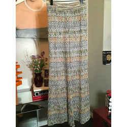 Missoni Size 42 Brown & Gold Knit Wide Leg Pants 2400-377-11820