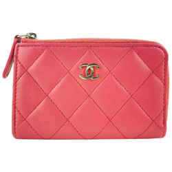 Chanel Pink Quilted Leather Key Pouch Keychain Charm 52C1117