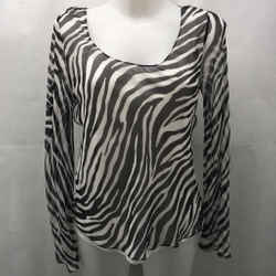 Theory Black Stripe Blouse Small