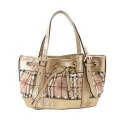 Vintage Authentic Burberry Haymarket Check Drawstring Handbag